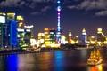 Картинка облака, ночь, отражение, лодка, фары, Китай, Шанхай