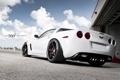 Картинка Z06, Corvette, Chevrolet, white, шевроле, корвет, задняя часть