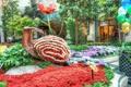 Картинка цветы, парк, клумба, Park, flowers, flowerbed, цветочная улитка