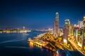 Картинка ночь, город, Гонконг, выдержка, Китай