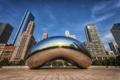 Картинка капля, Чикаго, USA, Иллинойс, Chicago, drop, монумент