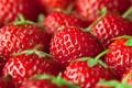 Картинка лето, макро, ягоды, клубника, красные