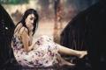 Картинка девушка, дождь, настроение