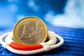 Картинка евро, монета, спасательный круг, денежка, SOS