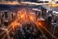 Картинка город, свечение, США, нью-йорк, New York