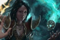 Картинка девушка, магия, череп, рука, Diablo III, wizard, Reaper of Souls