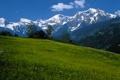 Картинка небо, горы, Австрия, луг, домик