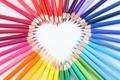 Картинка сердце, карандаши, рисование