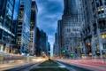 Картинка дорога, машины, город, размытие, мегаполис
