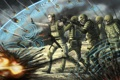Картинка солдаты, пули, щит, war, psy ops