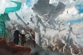 Картинка горы, фантастика, скалы, женщина, пара, мужчина, art