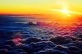 Картинка небо, облака, рассвет, панорама