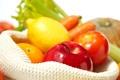 Картинка лимон, яблоко, апельсин, фрукты, овощи, цитрусы, помидоры