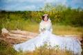 Картинка лето, девушка, невеста