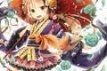 Картинка девушка, цветы, розы, ромашки, зонт, лепестки, арт
