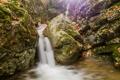 Картинка вода, блики, камни, водопад, мох