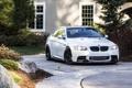 Картинка BMW, Белая, БМВ, Фары, White, E92