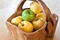 Картинка корзина, яблоки, еда, фрукты