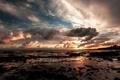 Картинка закат, пляж, отлив, море