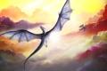 Картинка облака, драконы, полёт