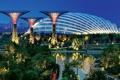 Картинка огни, парк, вечер, подсветка, Сингапур