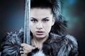Картинка sword, woman, look, warrior