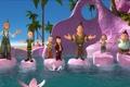 Картинка море, мультфильм, гномы, лотосы, приключение, камешки, 7-ой гном