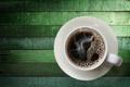 Картинка кофе, чашка, зеленый фон, блюдце
