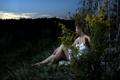 Картинка девушка, ночь, природа