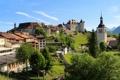 Картинка дома, Швейцария, Switzerland, houses, горы., Gruyere, Fribourg