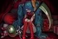 Картинка девушка, кровь, аниме, коса, нота, Hatsune Miku, Vocaloid