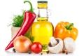 Картинка грибы, чеснок, помидор, шампиньоны, перчик, масло, перец