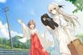 Картинка радость, девушки, игрушка, чемодан, лэп, kasugano sora, yosuga no sora