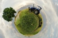 Картинка небо, земля, трактор
