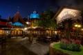 Картинка Ночь, Кафе, Время, Улица, Тишина, США, Disneyland California