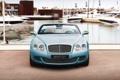 Картинка Bentley, Continental, Причал, Яхты, Машина, Капот, Передок
