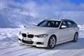 Картинка Зима, Авто, Белый, Снег, BMW, Машина, В Движении