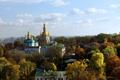 Картинка фото, Город, Деревья, Собор, Храм, Киев, Монастырь