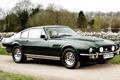 Картинка деревья, Aston Martin, зелёный, суперкар, классика, передок, Астон Мартин