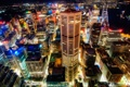Картинка ночь, город, огни, здания, Сидней, мегаполис, вид сверху