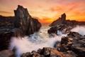 Картинка море, волны, пейзаж, скалы