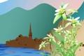 Картинка пейзаж, путешествия, государство, Austria, озеро, туризм, город