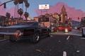 Картинка GTA V, Grand Theft Auto V, Race, Cars, City, Los Santos