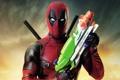 Картинка оружие, фон, фантастика, маска, костюм, мечи, постер