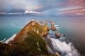 Картинка море, небо, облака, скалы, маяк