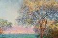 Картинка небо, деревья, океан, утро