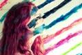 Картинка девушка, Blending, краски