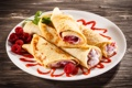 Картинка малина, блины, выпечка, варенье, raspberry, jam, блинчики