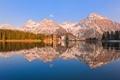 Картинка лес, городок, озеро, reflection, Пейзаж, дома, природа