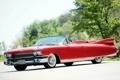 Картинка красный, Eldorado, Cadillac, Эльдорадо, передок, 1959, Кадилак